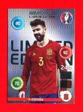 EURO FRANCE 2016 - Adrenalyn Panini - Card Limited Edition - PIQUE - ESPANA