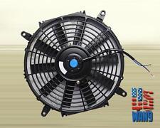"9"" inch Universal Slim Fan Push Pull Electric Radiator Cooling 12V Black Kit"