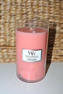 WoodWick 18.6 oz. Jar Candle Crackling As It Burns Scented Island Escape NEW