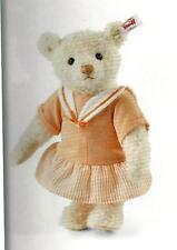 "STEIFF ""EDITH TEDDY BEAR "" EAN 034145 LIGHT APRICOT MOHAIR WITH APRICOT DRESS 9"""