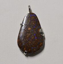 Pendentif argent opale Yowah Boulder 34 carats - Natural Opal Silver pendant