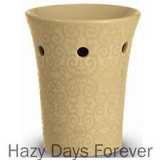 Yankee Candle Tarte chaude beige cercles Fauve huile brûleur en céramique cadeau