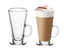 Large Tall Latte Glasses Mugs 295ml Cappuccino Coffee Hot Chocolate Drinks 2,4,6