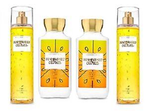 4 Piece Bath & Body Works Sun-Washed Citrus Set- Body Lotion & Fragrance Mist