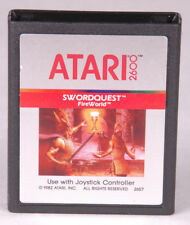 SWORDQUEST FireWorld Atari 2600 Game Cartridge-Video Games~Vintage 1982-2657