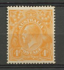 AUSTRALIA KING GEORGE V 4d ORANGE - SINGLE W.M. - MNH                     Hk67d