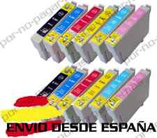 12 CARTUCHOS DE TINTA COMPATIBLE NON OEM PARA EPSON STYLUS PHOTO PX710W T0807