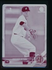 GRIFFIN ROBERTS 2018 Bowman Chrome Draft MAGENTA PRINTING PLATE #1/1 Rookie RC
