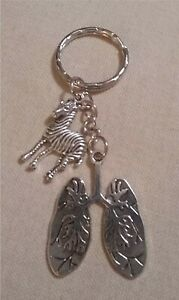Lungs Keyring with the Zebra Charm