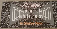 """Anthrax """"White Noise"""" Large U.S. Promo Poster - Heavy Metal Music Legends!"""