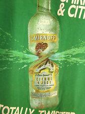 SMIRNOFF & CITRUS vodka XL tee Moscow booze T shirt logo spirits Totally Twisted