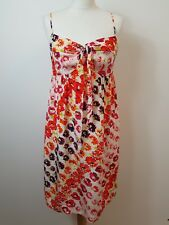 Stunning Women's White & Red Babydoll Style Dress by Coast Size 12