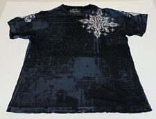 Affliction Signature Series Georges St-Pierre Rush  T-Shirt Men XL Distressed