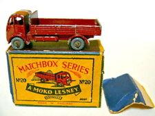 """MATCHBOX RW 20a Espoo TRUCK rosse-marroni RARE ruote di plastica in """"Moko"""" BOX"""