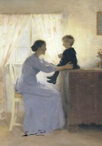 Postkarte: Ilsted - Mutter und Kind / 1898