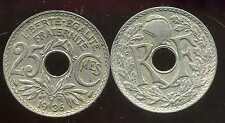 25 centimes  1936  lindauer    ( pas courant )   ( bis )