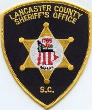 LANCASTER COUNTY SOUTH CAROLINA SC SHERIFF POLICE PATCH