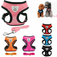Adjustable Breathable Mesh Small Dog Cat Pet Harness Leash Collars Puppy Vest