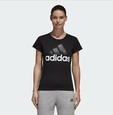 adidas Essentials Linear Slim T-shirt Tee Black B45786 Sport Gym Training 2xl (uk24-26)