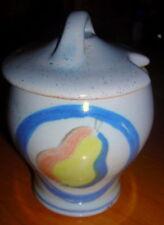 Buchan Portobello Scotland Brittany Fruit Stoneware Pottery Jam Mustard Pot 1956