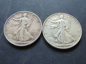 WALKING LIBERTY HALF /1947 P-D/ WHAT YOU SEE IS WHAT U GET / STK #2681