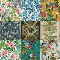 Fine/Holden Decor Congo Tropical Rainforest Wallpaper Assorted Colours