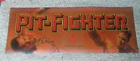 "#2 original ATARI PIT FIGHTER  23 1/2-8 3/4"" sign marquee arcade video game cF89"