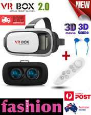VR BOX 2.0 Headset Google Virtual Reality 3D Glasses for Samsung Iphone With RC