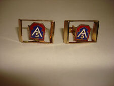 Pair Of US 5th ARMY Gold Tone Cuff Links Great Gift