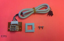 NEW Front Panel USB 2 Port PCB Board Connector for Computer PC Case w/ Clip