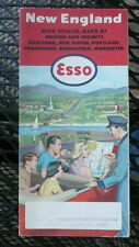 1954 New England road map Esso oil Hartford New Haven