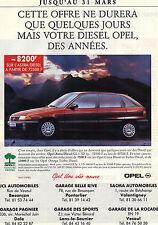 PUBLICITE ADVERTISING   1993    OPEL ASTRA DIESEL   GL 1.7D 3 p
