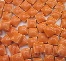 100pcs - 110grams Micro Ceramic Mosaic Tiles Orange OD1
