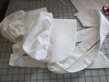 Toddler *Baby Bonnet~New~White 100% cotton* Size M *(made to order!!)