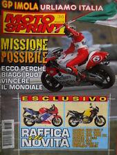 Motosprint 36 1998 Poster Alex Barros. Ecco perchè Biaggi può vincere mondiale