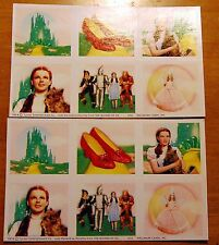 2 Sheets WIZARD of OZ Scrapbook Stickers Dorothy Ruby Slippers Glinda