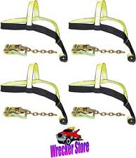Set of 4 TIE DOWN STRAPS for ROLLBACK, CAR CARRIER, CENTURY, JERRDAN & OTHERS
