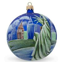 Statue of Liberty, New York Glass Ball Christmas Ornament 4 Inches