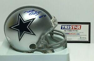 "Mel Renfro Signed Dallas Cowboys Mini-Helmet ""HOF 96"" Tri-Star 7523012"