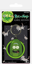 Rick and Morty - Pickle Rick - Gummi Schlüsselanhänger Keyring - ca. 4,5x6 cm