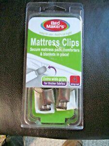 Bed Maker's Mattress Clips - 4 Strap Set Extra Wide NIB
