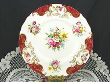 ROYAL CAULDON MINUETTE PINK ROSE FLORAL GILT SCROLL WORK DINNER PLATE