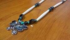 Hand Beaded Abalone Butterfly Southwest Necklace
