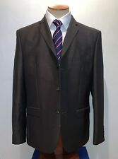 MENS NEXT SIGNATURE BROWN MOHAIR 2 PIECE EMPIRE MILLS SINGLE BREASTED SUIT 42R