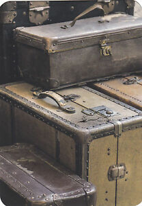 Kunstkarte / Postcard Art - alte Koffer / Reise
