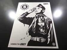 Shepard Fairey - Learn to Obey - Off - Wasted Years - Obey Giant - S/N 2014