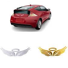 3D Guardian Angel Wings Halo voiture autocollant Decal Badge-Argent Chromé