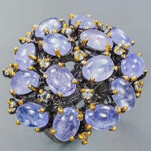 Luxury Expensive stone Tanzanite Ring Silver 925 Sterling  Size 6.75 /R152334
