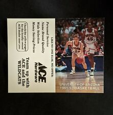 1991-92 University of Arizona Men's Basketball Schedule  - Sean Rooks