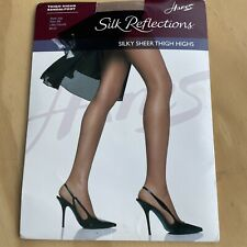 Hanes Silk Reflections Thigh Highs Style 720 Sheer Toe Size: AB  -  Little Color